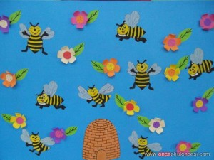 bee bulletin board idea for kids (3)