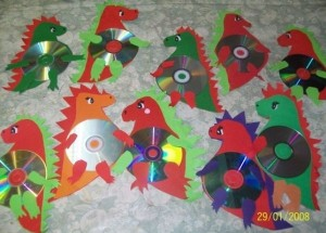 cd dinosaur craft