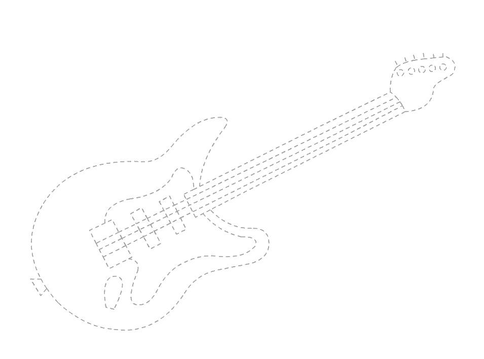guitar trace worksheet for kids