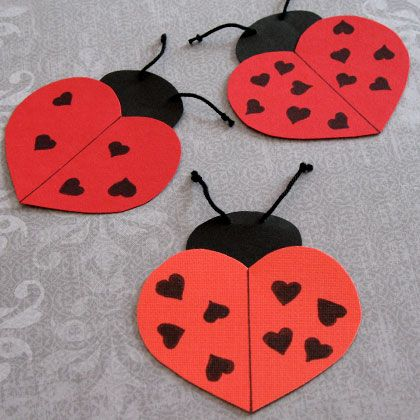 heart butterfly lady bug for valentine day (1)