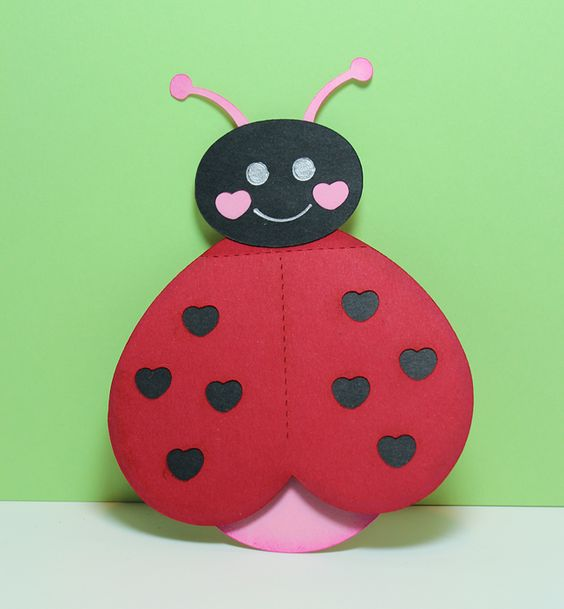 heart butterfly lady bug for valentine day (3)