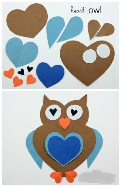 heart owl craft (2)