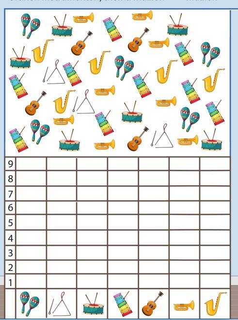 musical instruments number count worksheet for kids (4)