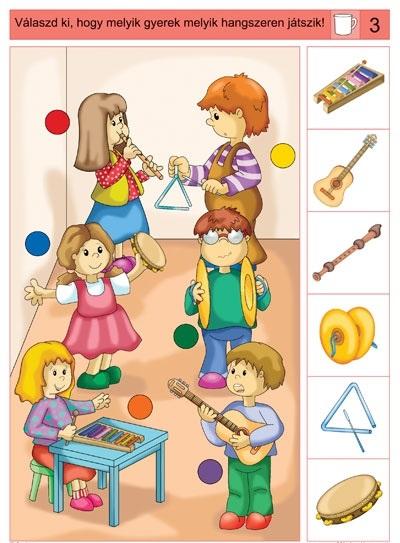 musical instruments worksheet for kids