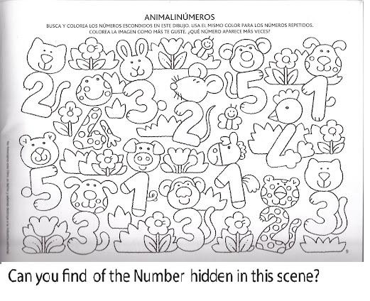 Number Hunt Worksheet For Kids (7) Crafts And Worksheets For Preschool, Toddler And Kindergarten