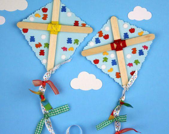 popsicle kite craft