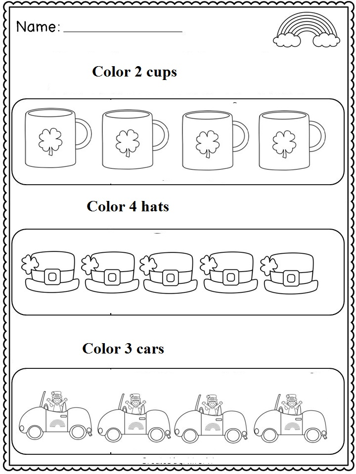 st patrick's day number count worksheet (2)