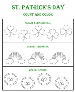 st patrick's day number count worksheet (3)