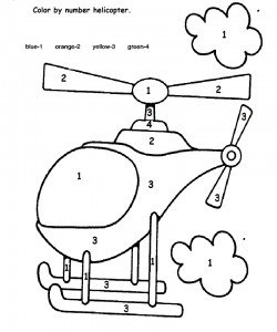 color by number helicopter