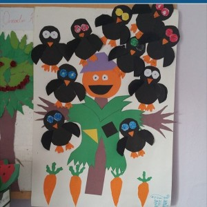 crow bulletin board idea