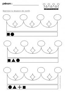 crown shape worksheet