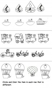 difference worksheet for kids
