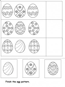 easter egg pattern worksheet