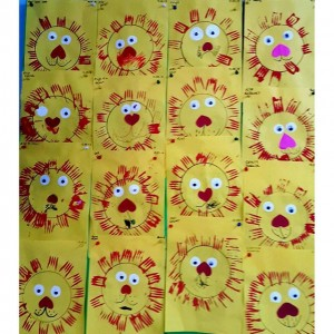 frok print lion craft (1)