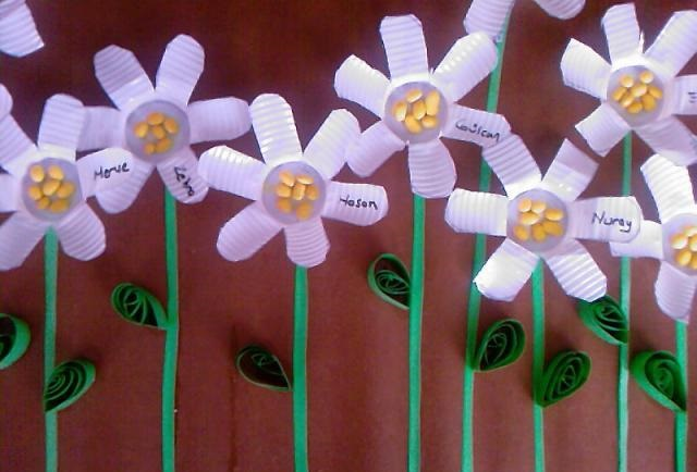 paper cup flower craft