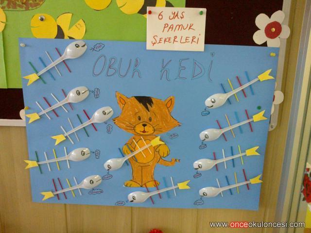 plastic spoon fish bulletin board idea (2)
