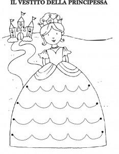 princess trace line worksheet