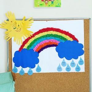 rainbow bulletin board idea (2)