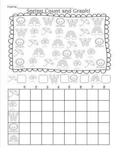spring count graph worksheet