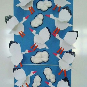 stork bulletin board idea