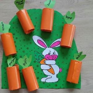 toilet paper roll carrot craft
