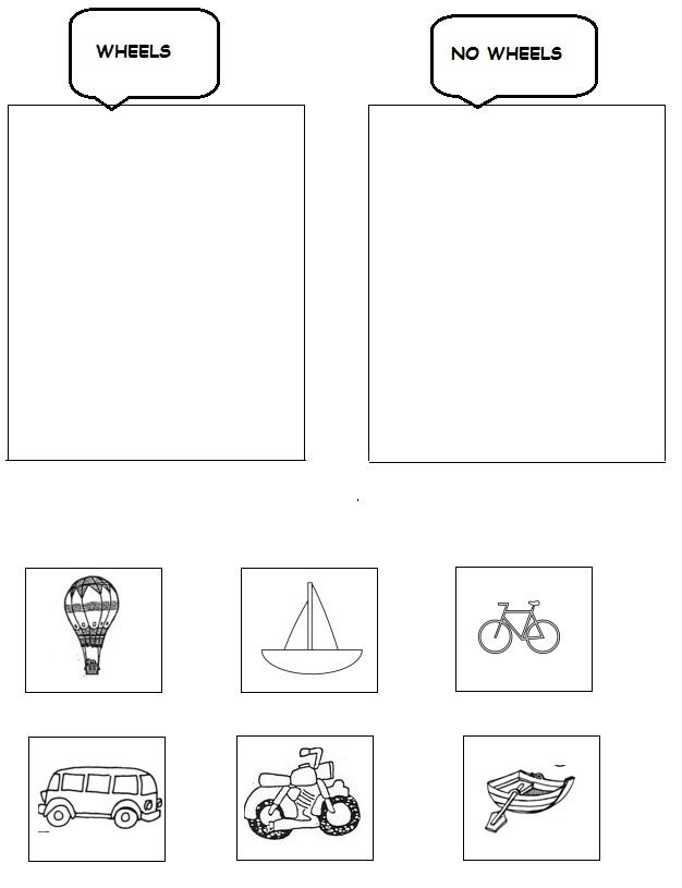 transportation worksheet