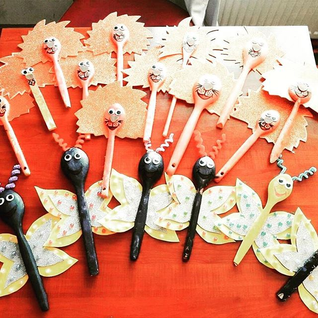 wooden spoon animals craft idea for kids (1)