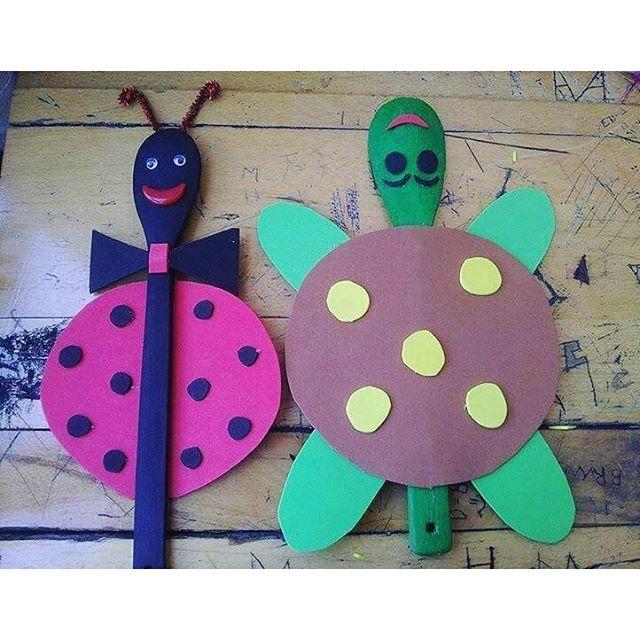 wooden spoon animals craft idea for kids (2)