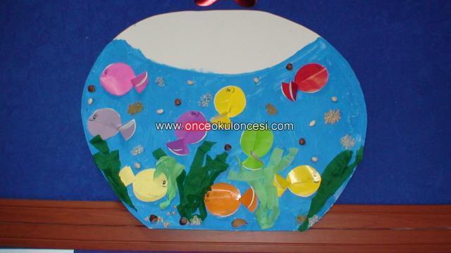 Aquarium craft idea for kids (2)
