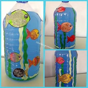 bottle Aquarium craft idea for kids (1)