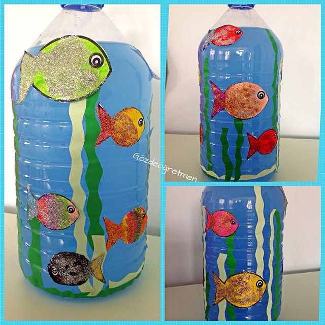 bottle Aquarium craft idea for kids (1)