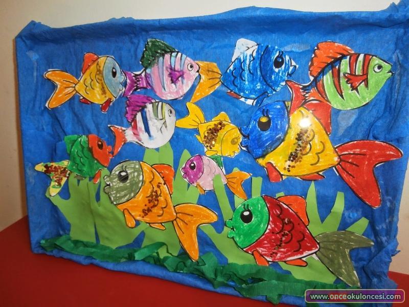 box Aquarium craft idea