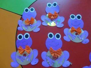 cd frog craft idea for kids