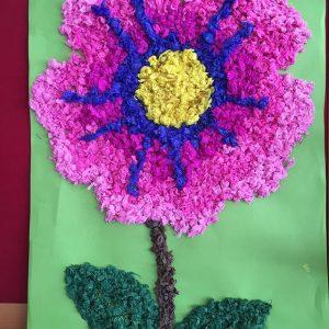 flower bulletin board idea