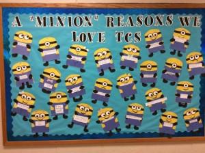 minions bulletin board