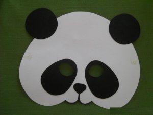 panda mask craft