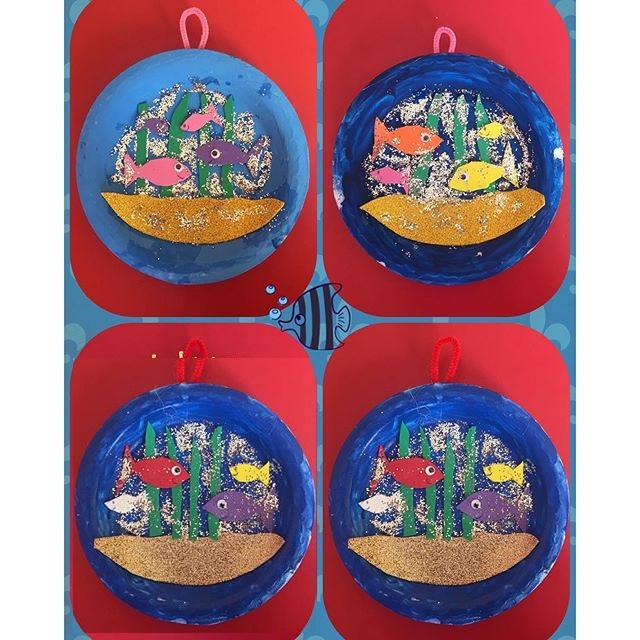 paper plate  Aquarium craft (1)