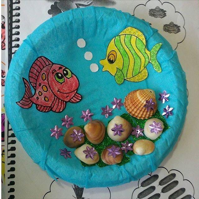paper plate  Aquarium craft (2)