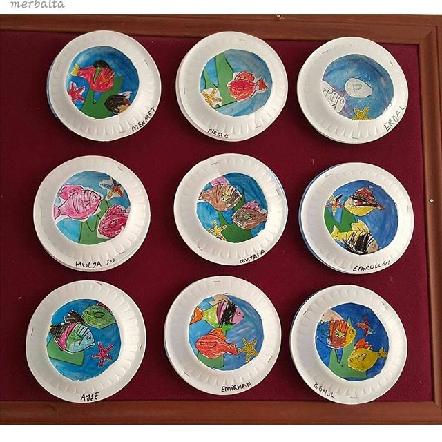 paper plate  Aquarium craft (3)