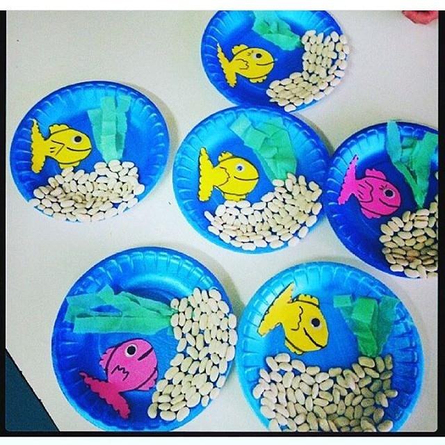 paper plate  Aquarium craft (5)