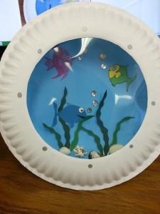 paper plate Aquarium craft (6)
