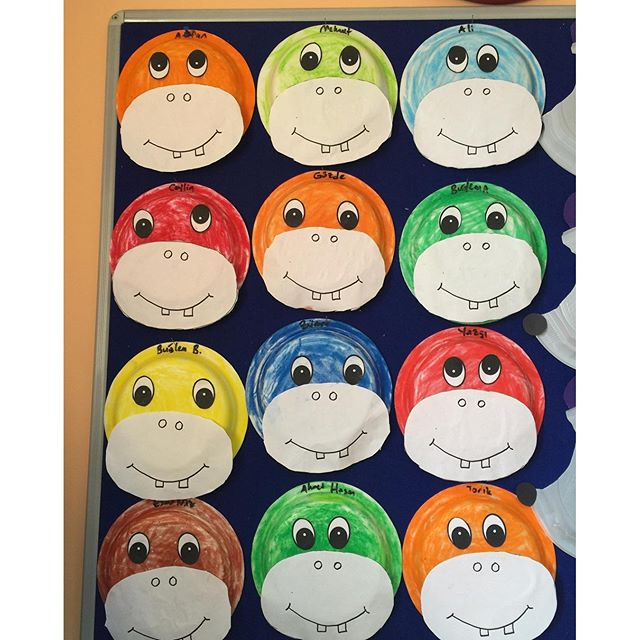 paper plate hippo craft