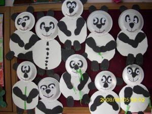 paper plate panda bear