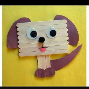 popsicle stick dog craft