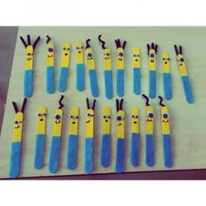 popsicle stick minions craft