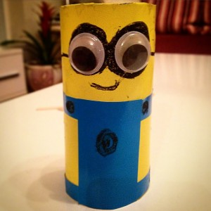 toilet paper roll minions craft