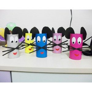 toilet paper roll mouse craft