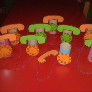 toilet paper roll phone craft