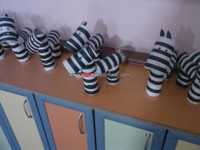 toilet paper roll zebra craft