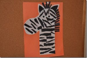 zebra craft idea